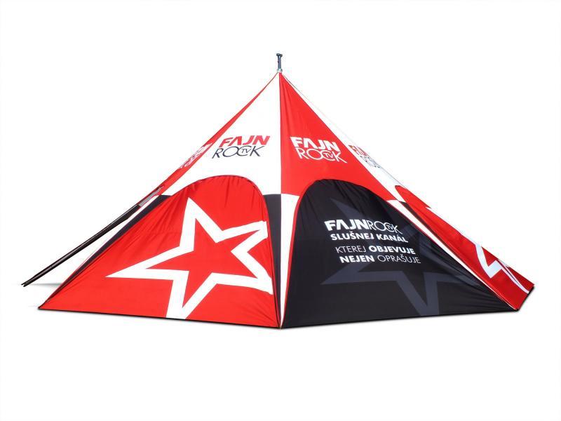 Sternzelt Reißverschlüsse am Zelt