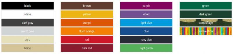Profi Zelte mit Volant Druck + 24 Standardfarben