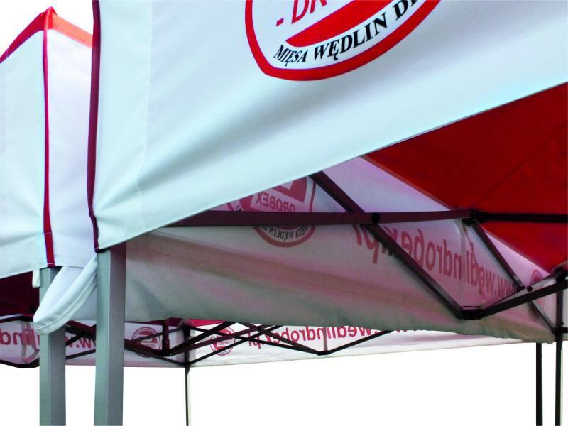 Regenrinnen zwischen 2 Zelten