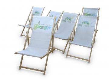 Liegestühle bedruckt - Set 4 Stück